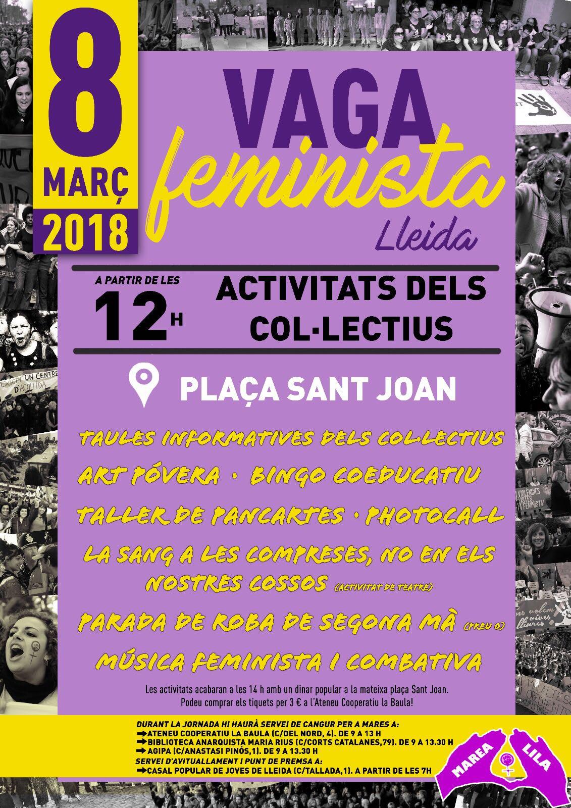 Vaga Feminista a Lleida