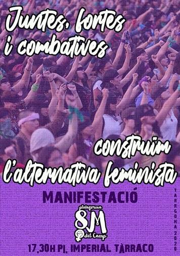 Manifestació 8 març  Tarragona